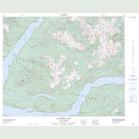 Canadian Topo Map - Quesnel Lake - Map 093A10