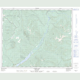 Canadian Topo Map - Cariboo Lake - Map 093A14
