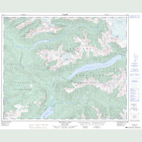 Canadian Topo Map - Mitchell Lake - Map 093A15