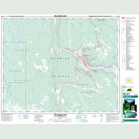 Canadian Topo Map - Williams Lake - Map 093B01