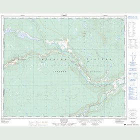 Canadian Topo Map - Redstone - Map 093B04