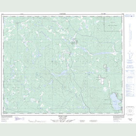 Canadian Topo Map - Stum Lake - Map 093B06
