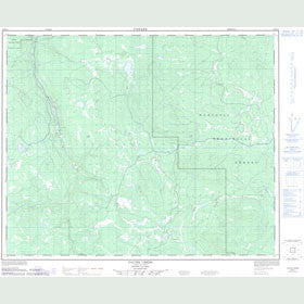 Canadian Topo Map - Tautri Creek - Map 093B11