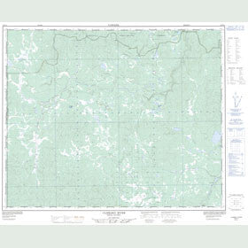 Canadian Topo Map - Clisbako River - Map 093B12