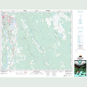 Canadian Topo Map - Quesnel River - Map 093B16
