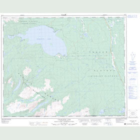 Canadian Topo Map - Charlotte Lake - Map 093C03