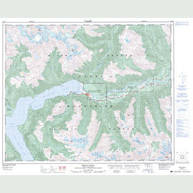Canadian Topo Map - Bella Coola - Map 093D07