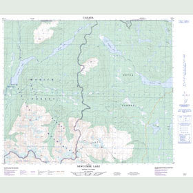 Canadian Topo Map - Newcombe Lake - Map 093E14