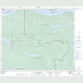 Canadian Topo Map - Knapp Lake - Map 093F14