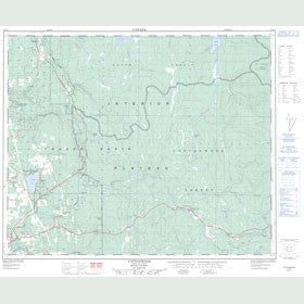 Canadian Topo Map - Cottonwood - Map 093G01