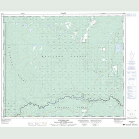 Canadian Topo Map - Punchaw Lake - Map 093G06