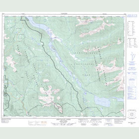 Canadian Topo Map - Spectacle Lakes - Map 093H03