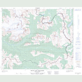 Canadian Topo Map - Mount Sir Alexander - Map 093H16