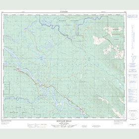 Canadian Topo Map - Sinclair Mills - Map 093I04