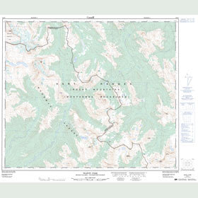 Canadian Topo Map - Wapiti Pass - Map 093I07