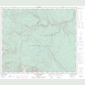 Canadian Topo Map - Belcourt Creek - Map 093I09