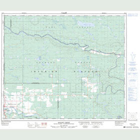 Canadian Topo Map - Knight Creek - Map 093J04