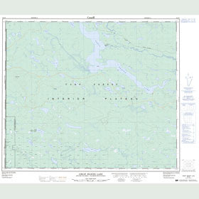 Canadian Topo Map - Great Beaver Lake - Map 093J05