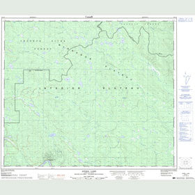 Canadian Topo Map - Averil Lake - Map 093J08