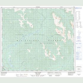 Canadian Topo Map - Anzac River - Map 093J16