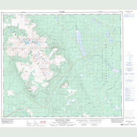 Canadian Topo Map - Driftwood Creek - Map 093L15