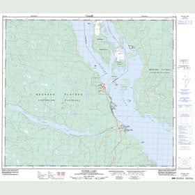 Canadian Topo Map - Fulton Lake - Map 093L16