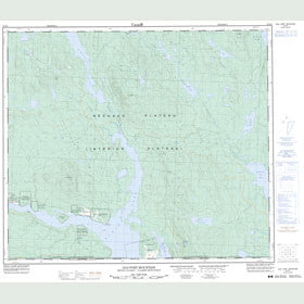 Canadian Topo Map - Old Fort Mountain - Map 093M01