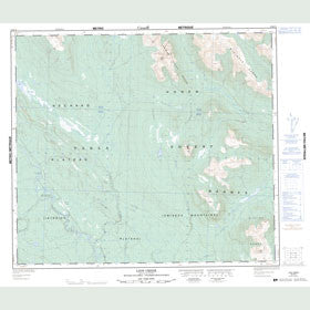 Canadian Topo Map - Lion Creek - Map 093M16