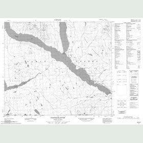 Canadian Topo Map - Sakeniche River - Map 093N04