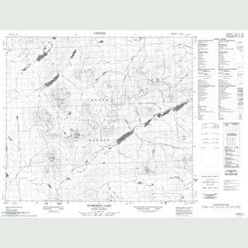 Canadian Topo Map - Humphrey Lake - Map 093N12