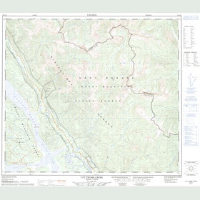 Canadian Topo Map - Cut Thumb Creek - Map 093O11