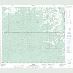 Canadian Topo Map - Arras - Map 093P10