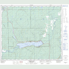 Canadian Topo Map - Moberly Lake - Map 093P13