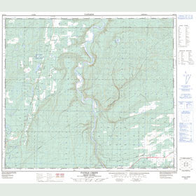 Canadian Topo Map - Favels Creek - Map 093P14