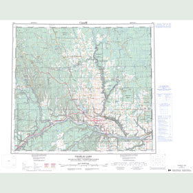 Canadian Topo Map - Charlie Lake - Map 094A