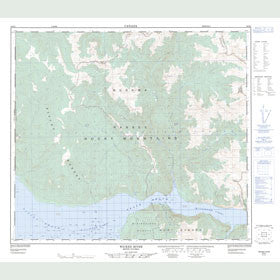 Canadian Topo Map - Wicked River - Map 094B04