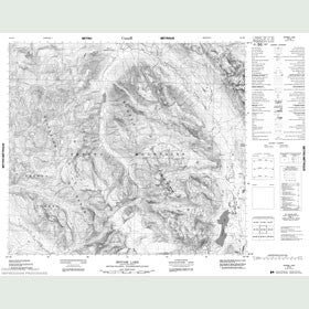 Canadian Topo Map - Motase Lake - Map 094D03