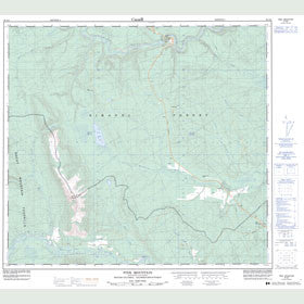 Canadian Topo Map - Pink Mountain - Map 094G02
