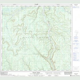 Canadian Topo Map - Donnie Creek - Map 094G09