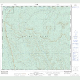 Canadian Topo Map - Trutch - Map 094G10
