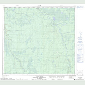 Canadian Topo Map - Katah Creek - Map 094H14