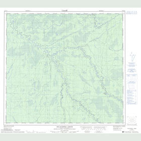 Canadian Topo Map - Helicopter Creek - Map 094H15