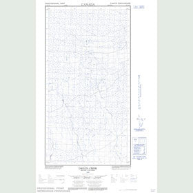 Canadian Topo Map - Datcin Creek - Map 094I15W