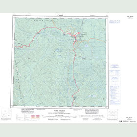 Canadian Topo Map - Fort Nelson - Map 094J