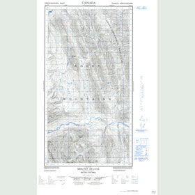 Canadian Topo Map - Mount Sylvia - Map 094K01E