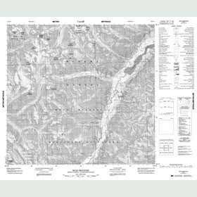 Canadian Topo Map - Sicily Mountain - Map 094K02