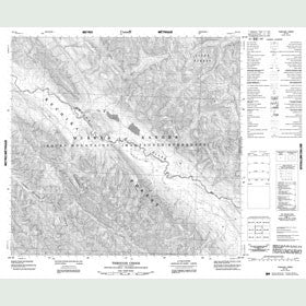 Canadian Topo Map - Through Creek - Map 094L08