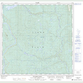 Canadian Topo Map - Hillgren Lakes - Map 094M14