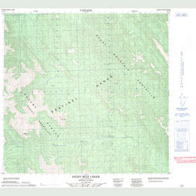 Canadian Topo Map - Eight Mile Creek - Map 094N03