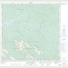 Canadian Topo Map - Mount Prudence - Map 094N05